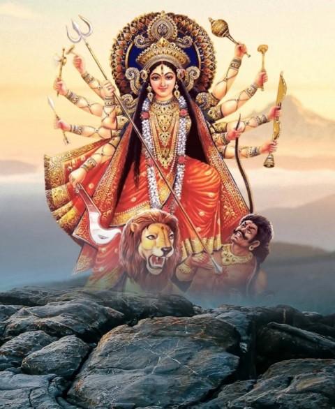 Navratri Maa Durga CB PicsArt Editing Background High Resolution