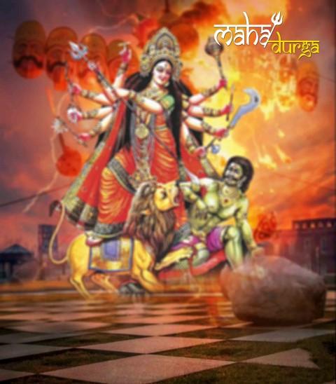 Navratri Maa Durga CB PicsArt pHOTO Editing Background