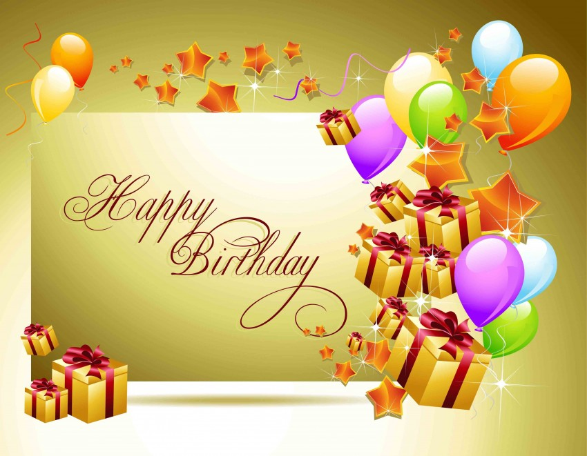 New Happy Birthday Background Download For PowerPoint