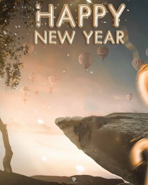 Mountain New Year Editing Background 2021