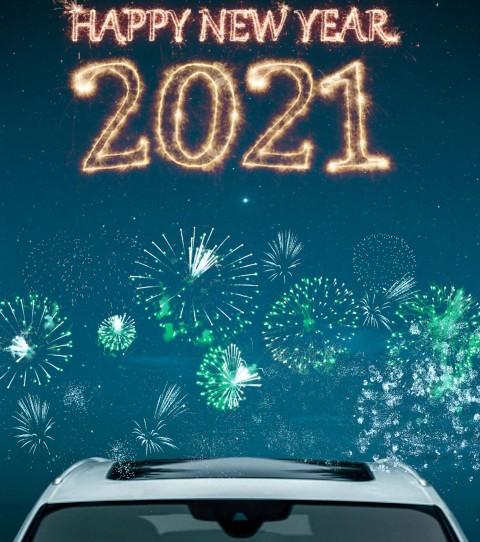 Car New Year Editing Background 2021