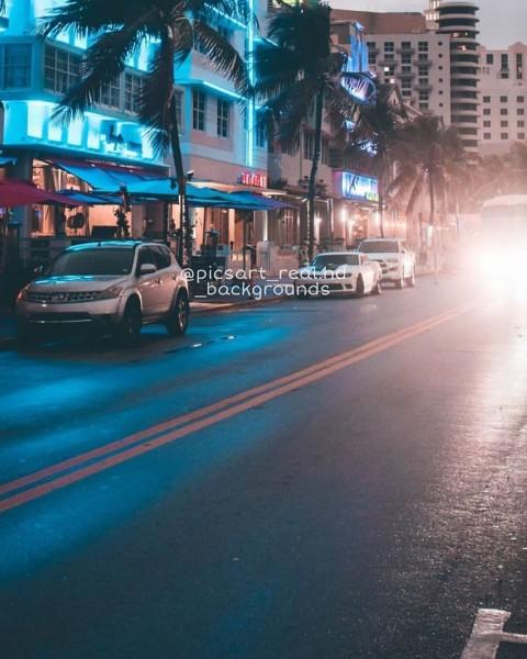 Night Road Picsart Background Download