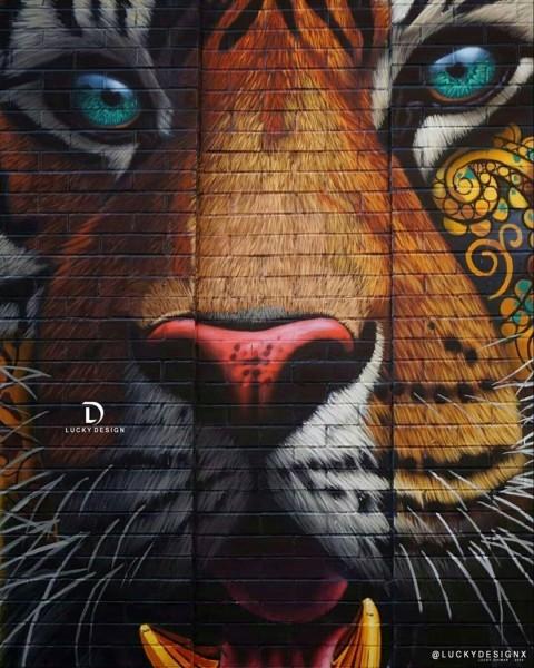 Picsart Tiger Face Wall Photo Editing Background