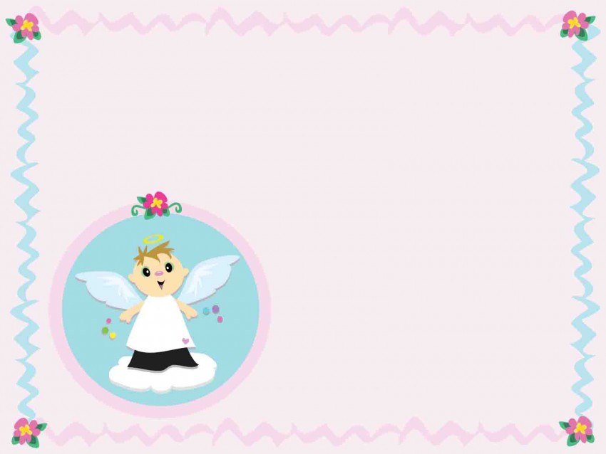 Pink Cute Baby PowerPoint Background Download