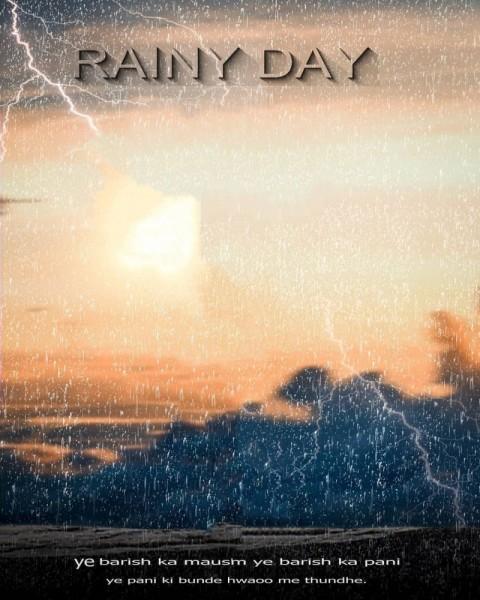 Rain Day PicsArt Editing HD Background
