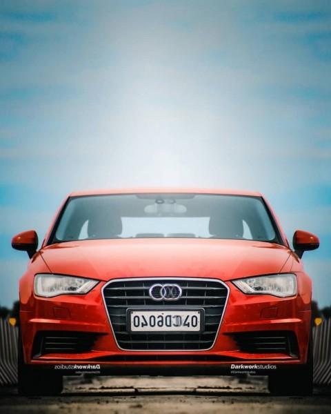Red Car PicsArt Editing Background HD