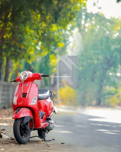 Red Scooty PicsArt Editing Background HD