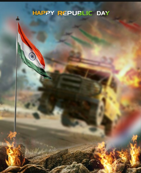 New Republic Day Photo Editing Background HD