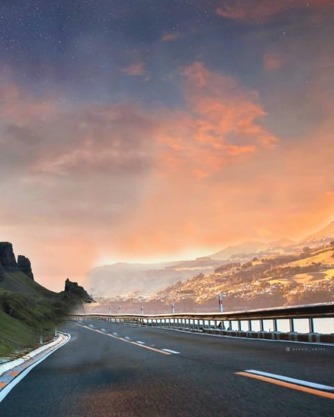Road PicsArt CB Editing HD Background Download