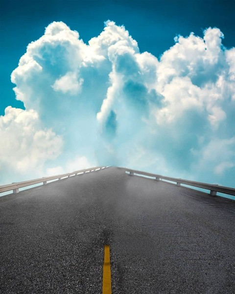 Road With Sky Cloud PicsArt CB Editing HD Background