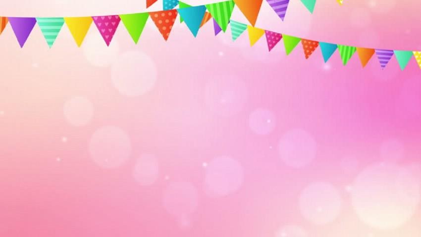 Simple Banner Design Happy Birthday Background
