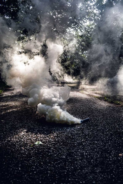 Smoke On Road CB Background Download