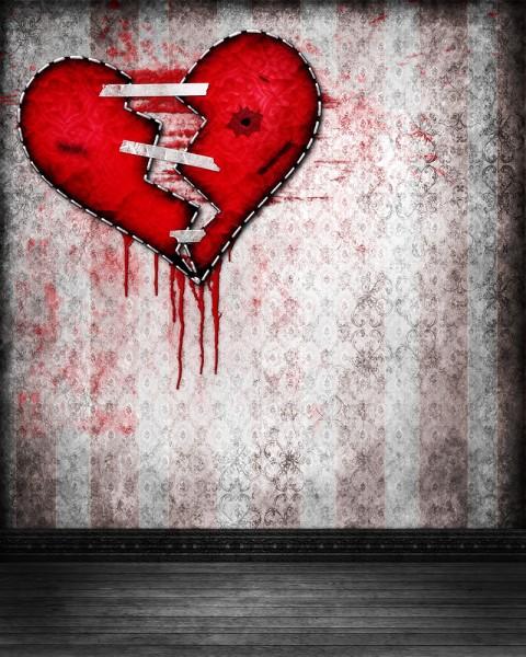 New Studio Background Broken Heart