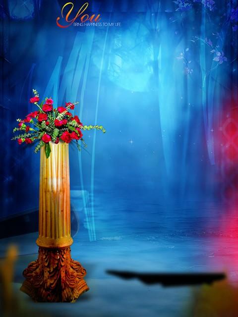 Full HD Studio Background For Girl