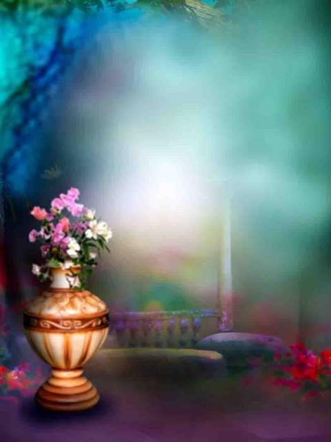 Studio Background With Flower Gamla