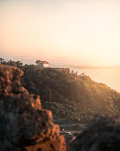 Sunset Mountain Photo Editing HD Background