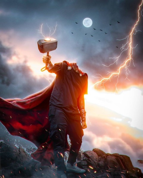 Thor Photo Editing Without Face HD Background