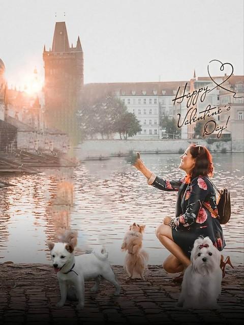 Valentine Day Photo Editing Background With Girls