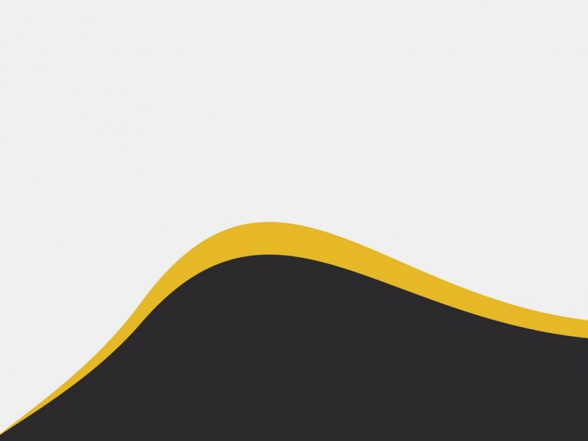 White Black With Wave Yellow PowerPoint Background