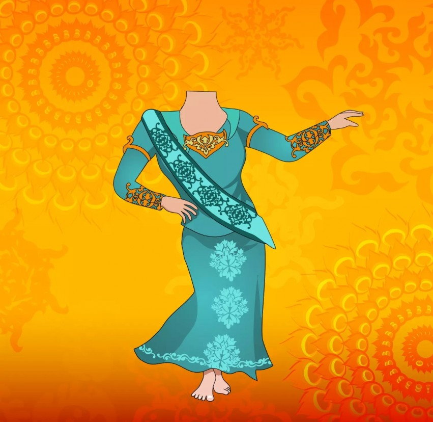 Woman Cartoon Body Background Without Face