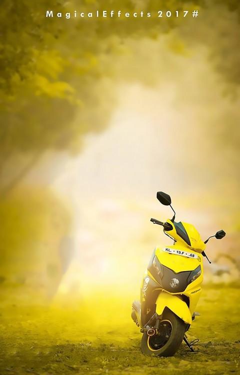 Yellow Scooty CB Background Full Hd